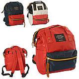 Сумка-рюкзак MK 2877, синій, фото 3
