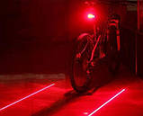Вело фонарь велосипедная лазерная дорожка, фото 3