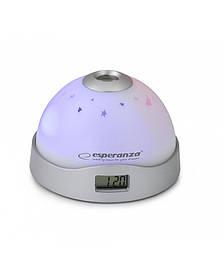 Часы проекционные Esperanza Cassiopeia EHC001, серые