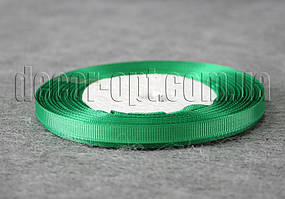 Лента репсовая зеленая 0,6 см 25 ярд арт.19