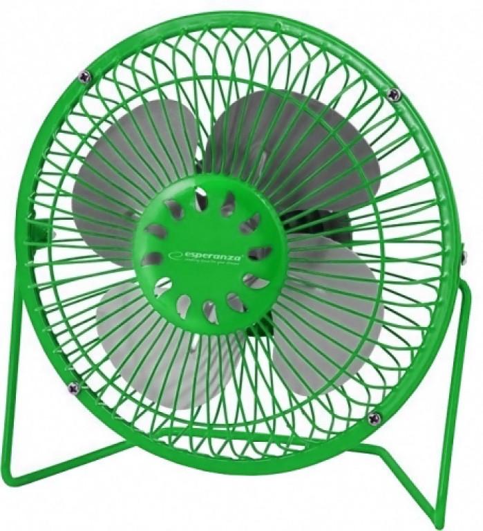 Вентилятор настольный USB Esperanza Yugo EA149R, зеленый