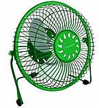 Вентилятор настольный USB Esperanza Yugo EA149R, зеленый, фото 3