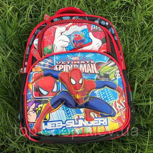 Детский школьный рюкзак ортопедический 3D Человек Паук (ранец)