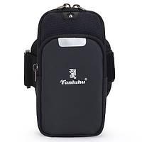 Сумка на руку для смартфона Tanluhu Sport черная, фото 1