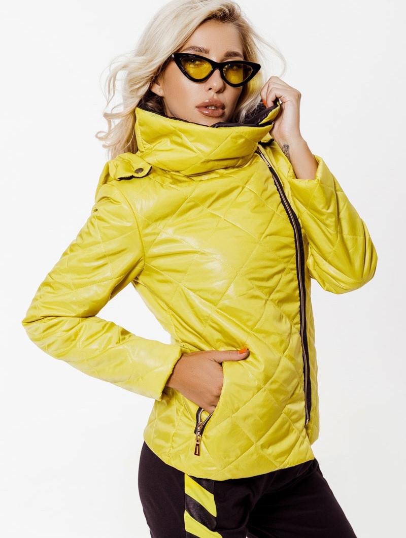 Стеганная модная куртка с капюшоном,женская-3 цвета