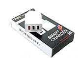 Сетевое зарядное устройство UKC Fast Charge AR 001 c 3 USB портами, фото 5