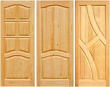 Дверные полотна из натуральной сосны