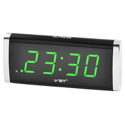 Настільний годинник VST 730 з зеленою підсвіткою