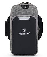 Сумка на руку для смартфона Tanluhu Sport серая, фото 1