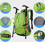 Рюкзак городской xs-0616 салатовый, 40 л, фото 6