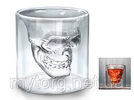 3D стакан для виски Череп 75 мл