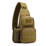 Тактическая военная сумка рюкзак EDC однолямочный Protector Plus X216 Coyote, фото 2