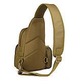Тактическая военная сумка рюкзак EDC однолямочный Protector Plus X216 Coyote, фото 4