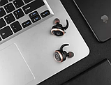 Беспроводные Bluetooth наушники Awei T1 Twins Earphones, черные, фото 3