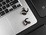 Бездротові Bluetooth-навушники Awei T1 Twins Earphones, чорні, фото 3