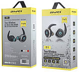 Бездротові Bluetooth-навушники Awei T1 Twins Earphones, чорні, фото 4