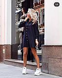 Платье женское короткое свободного кроя на пуговицах. Цвета: пудра, красный, чёрный, фото 3