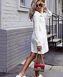 Платье женское короткое свободного кроя на пуговицах. Цвета: пудра, красный, чёрный, фото 6