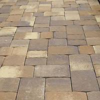 Тротуарная плитка Золотой Мандарин Старая площадь 6 см, пастена