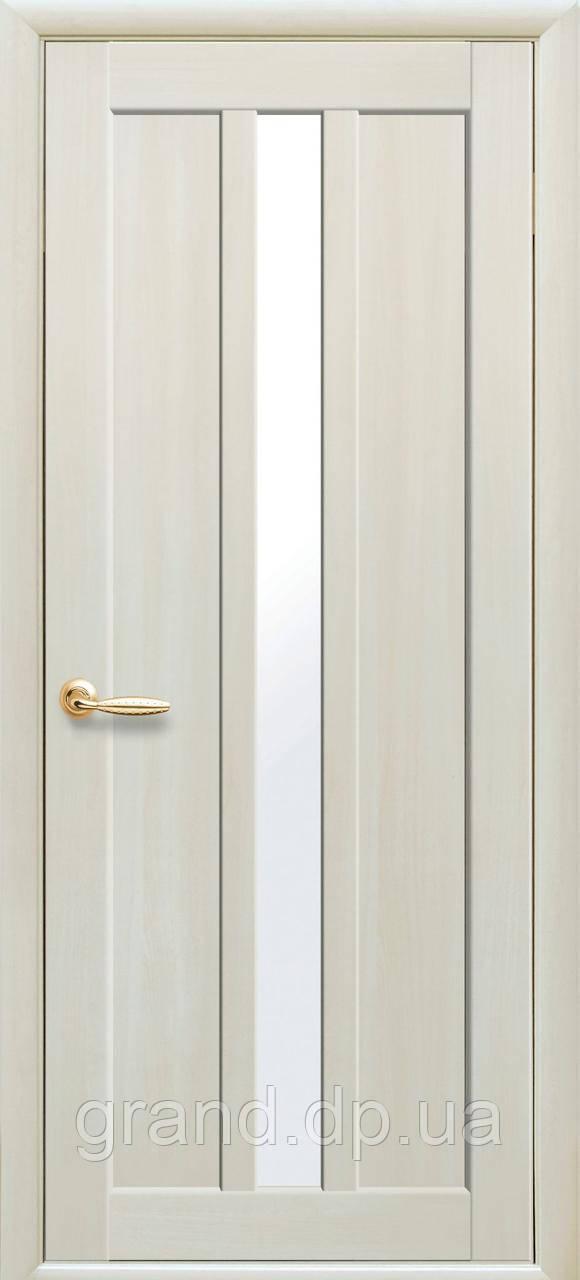 Межкомнатная дверь Марти Экошпон с матовым стеклом, цвет дуб жемчужный