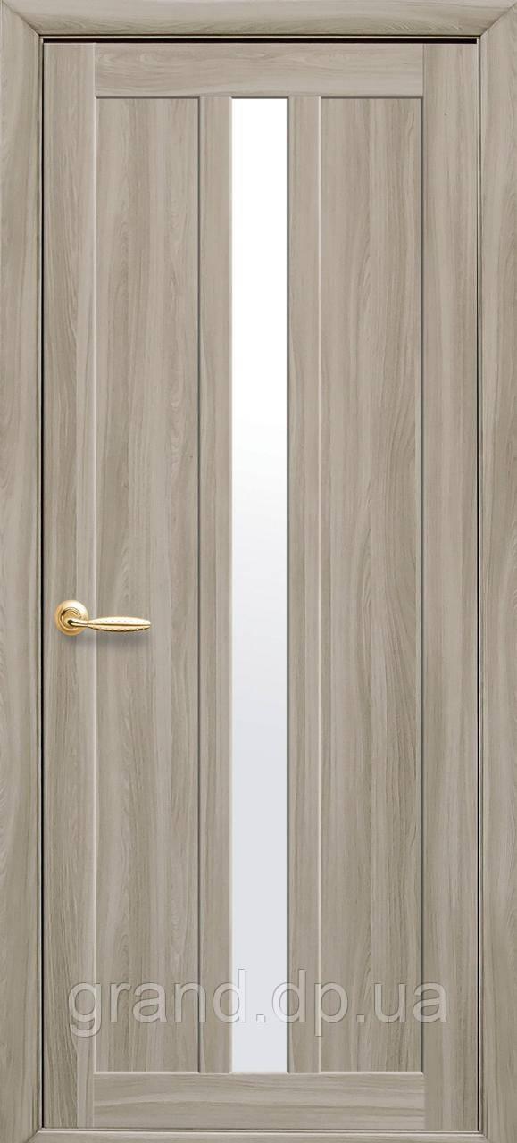 Дверь Марти Новый стиль экошпон с матовым стеклом, цвет сандал