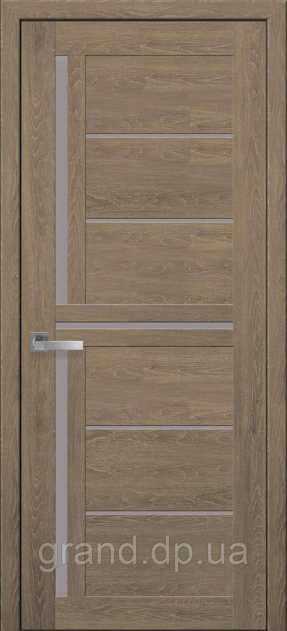 Межкомнатная дверь Диана ПВХ ULTRA  с матовым стеклом, цвет дуб медовый