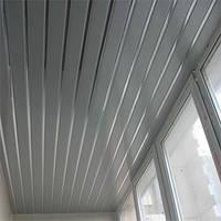 Реечный потолок: металлик с зеркальными вставками, любые размеры, фото 1
