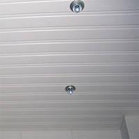 Реечный алюминиевый белый подвесной потолок любых размеров - без отходов, под заказ
