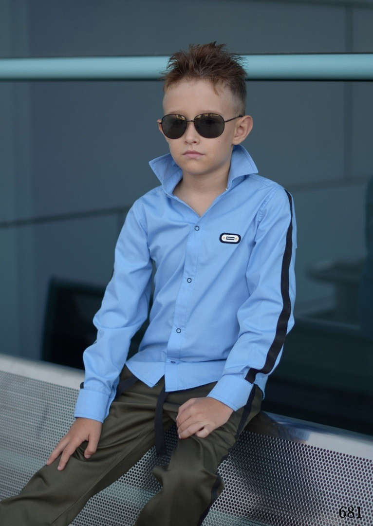 Рубашка для мальчика ломпас рубашечная ткань 122,128,134,140,146