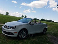 Аренда белого кабриолета Volkswagen Eos