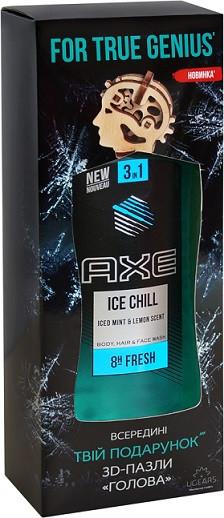 Набор AXE Ice chill Гель для душа 250мл+3Д пазл