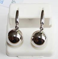 Серьги шары серебро Эшли, фото 1