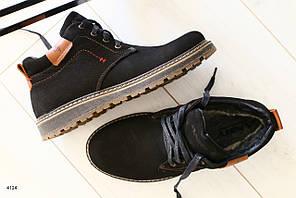 Ботинки мужские зимние, на шнурках