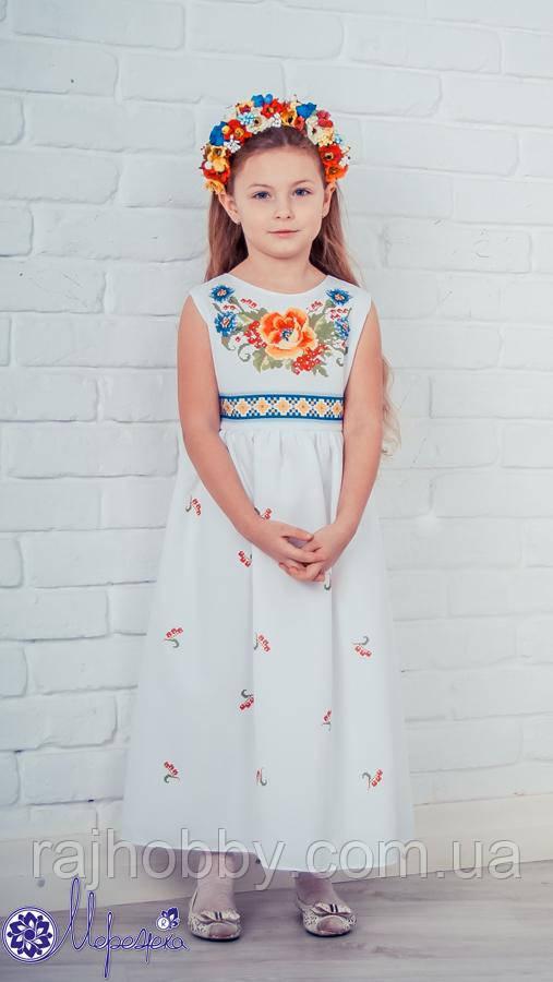 Мережка Платье под вышивку бисером сшитое 36р. без рукавов