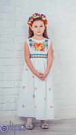 Мережка Платье под вышивку бисером сшитое 36р. без рукавов, фото 1