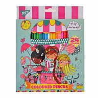 Набор цветных карандашей 24 шт - Rachel Balloon, 290547