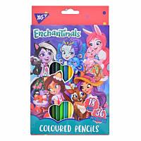 Набор двухцветных карандашей 18 шт - Enchantimals, 290557