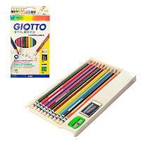 Набор цветных карандашей 10 шт в резинкой, все в одном, Giotto 256800
