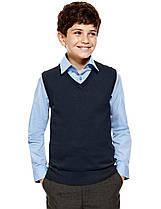 Безрукавка темно-синяя школьная на мальчика 10-11-12-13-14 Хлопок 100% George (Англия)