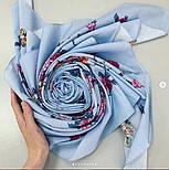 Цветочное ожерелье 932-1, павлопосадский платок (шаль) хлопковый (саржа) с подрубкой, фото 7