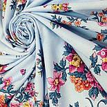 Цветочное ожерелье 932-1, павлопосадский платок (шаль) хлопковый (саржа) с подрубкой, фото 6