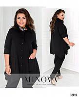 Модная свободная асимметричная женская блуза в расцветках больших размеров 48 - 62