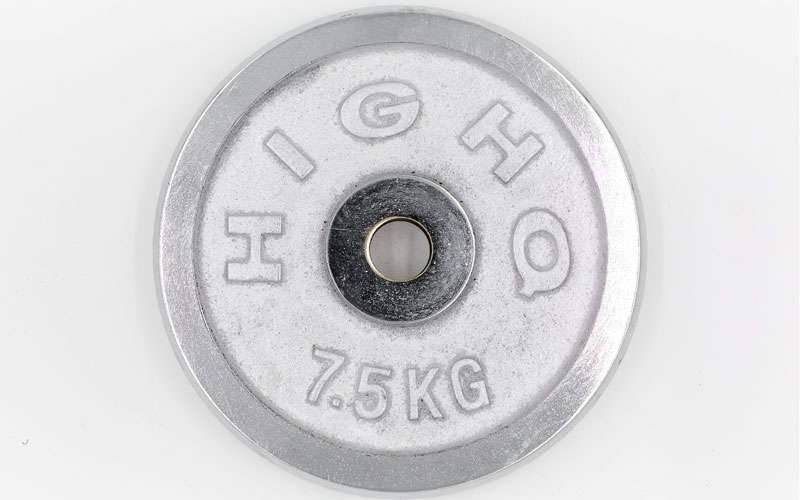 Блин хромированный 7,5 кг (30 мм)