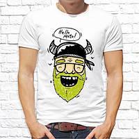 """Чоловіча футболка Push IT з принтом Байкер """"Hello moto!"""""""