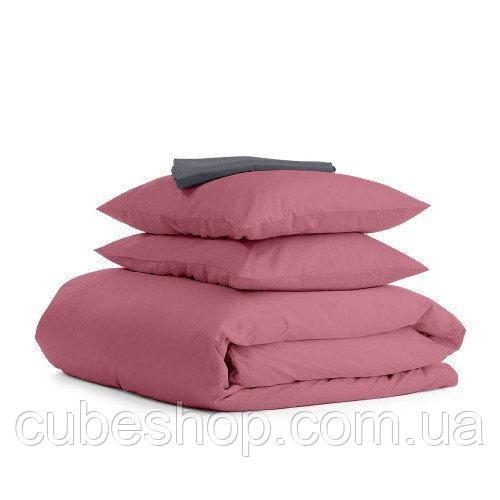 Комплект полуторного постельного белья PUDRA GREY-S (хлопок, сатин)