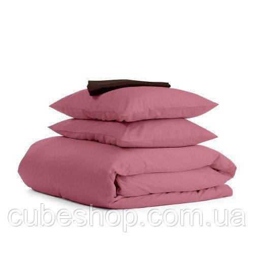 Комплект полуторного постельного белья PUDRA CHOCOLATE-S (хлопок, сатин)
