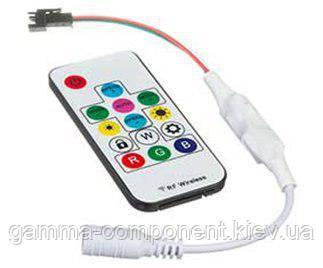 Контроллер для адресной светодиодной ленты Smart mini 6 A, 72 Вт, радиопульт 14 кнопок