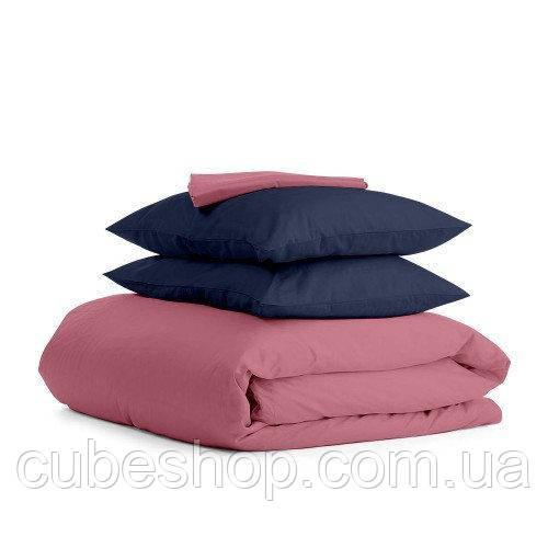 Комплект полуторного постельного белья PUDRA BLUE-P (хлопок, сатин)