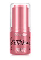 "Faberlic Средство для макияжа глаз губ и щек #UNIQorn тон ""Клубничное мороженое"" Beauty Box арт 5224"