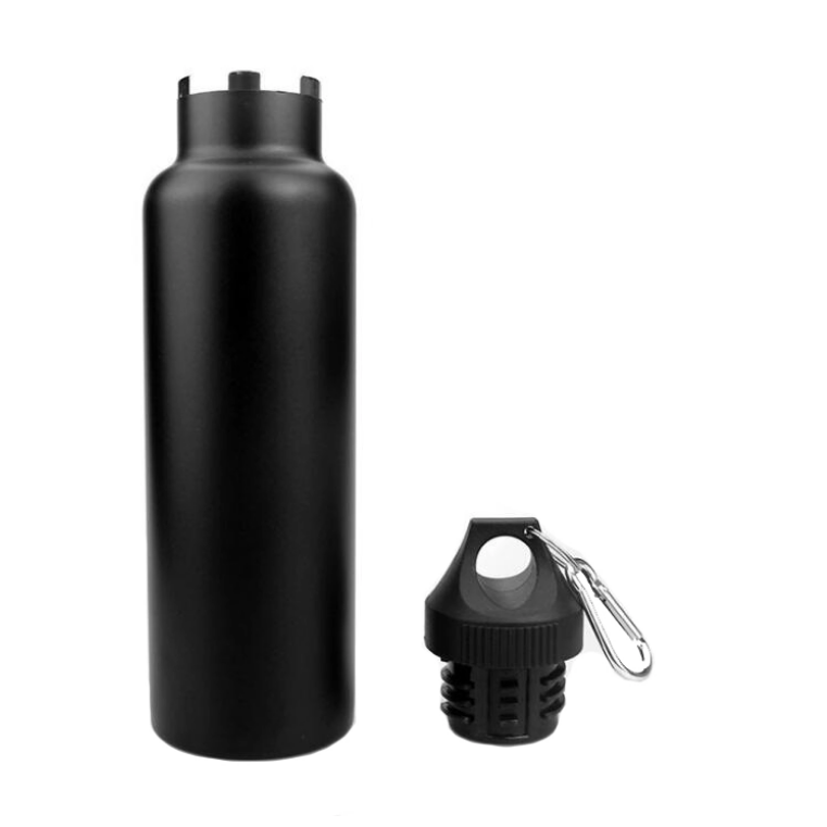 Спортивная бутылка с карабином Fashion V03